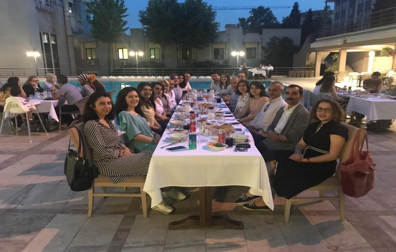 Traditional  iftar dinner of the group was held at ITU Havuzbaşı Restaurant Maçka, on May 28, 2019