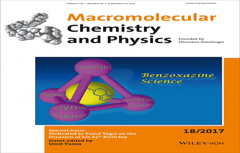 Macromolecular Chemistry & Physics, Wiley has published a special issue on the occosion of Prof. Yusuf Yagci's 65th birthday. Many distingusihed scientistists contributed papers to recognize his contribution to polymer science.