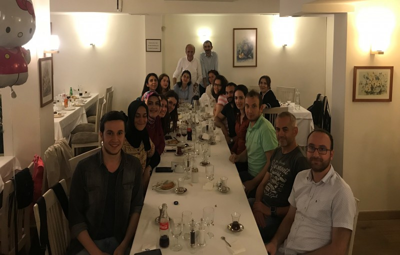 Group members celebrated the Ramadan with a traditional iftar dinner.